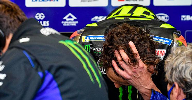 Valentino Rossi tiene coronavirus y no correrá el domingo en Aragón