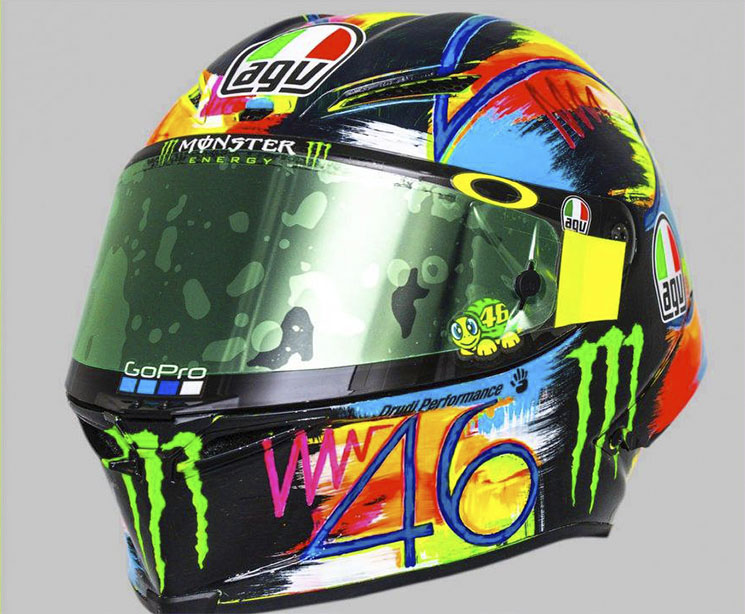 agv pista gp r rossi winter test 2019 viva el color. Black Bedroom Furniture Sets. Home Design Ideas