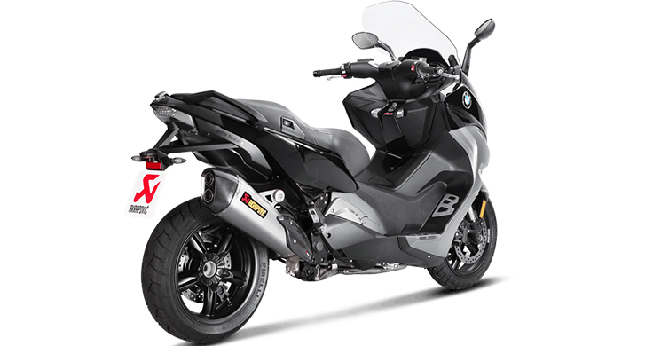 nuevo escape akrapovic para el bmw c650 sport. Black Bedroom Furniture Sets. Home Design Ideas
