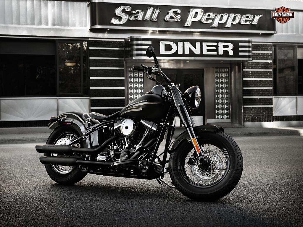 Bobber Cafe Racer Harley Davidson Hd Wallpaper 1080p: Harley Davidson Softail Slim 2012